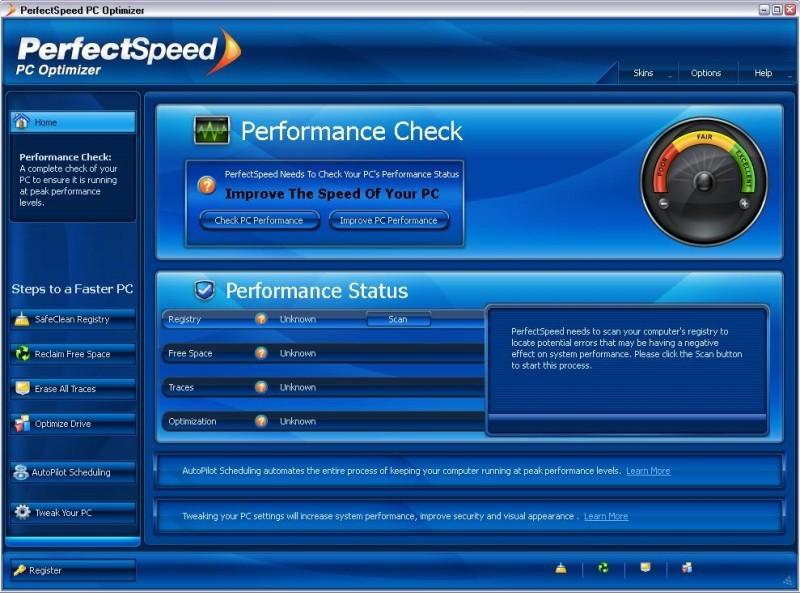 Pantallazo PerfectSpeed PC Optimizer