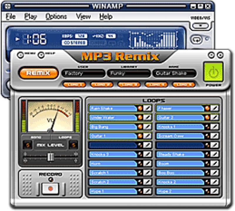 Pantallazo MP3 Remix Winamp