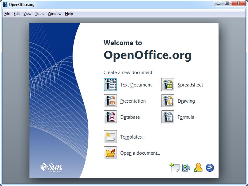 Pantallazo Open Office Portable