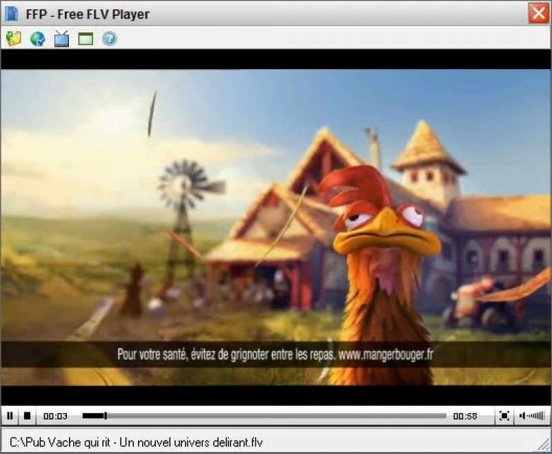 Pantallazo Free FLV Player