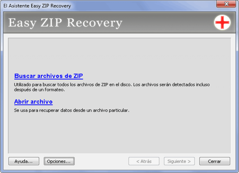 Pantallazo Easy ZIP Recovery