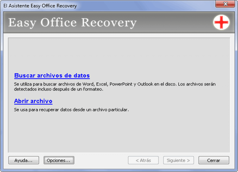 Pantallazo Easy Office Recovery