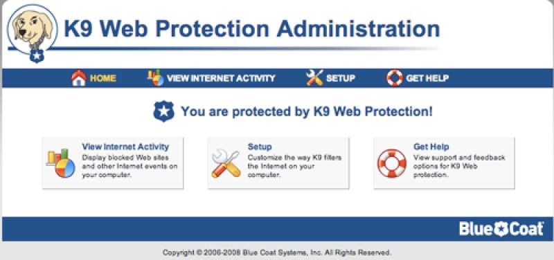 Pantallazo K9 Web Protection