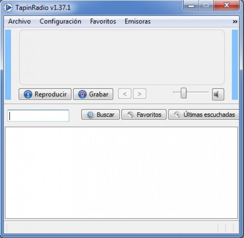 Pantallazo Tapin Radio