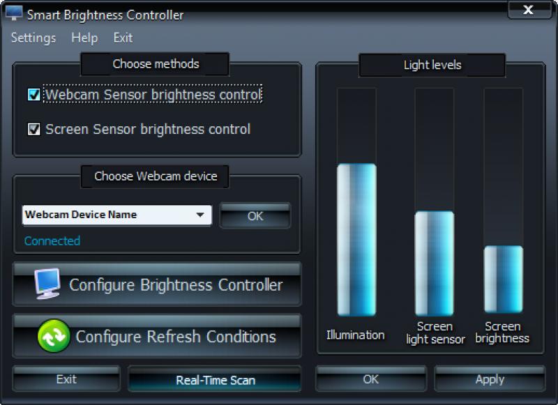Pantallazo Smart Brightness Controller