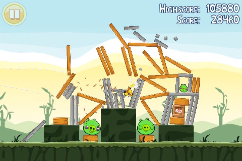 Pantallazo Angry Birds