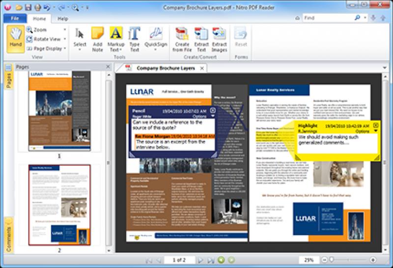 Pantallazo Nitro PDF Reader