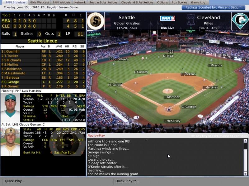 Pantallazo Out of the Park Baseball 12