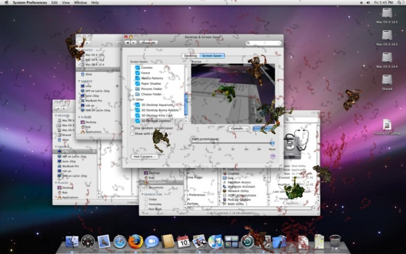 Pantallazo 3D Desktop Zombies Screen Saver