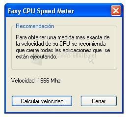 Pantallazo Easy CPU Speed Meter