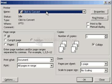 Pantallazo Click to Convert