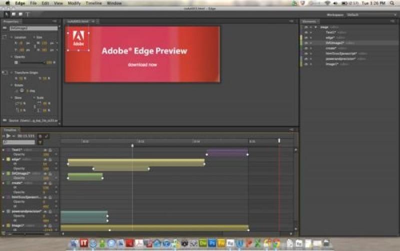 Pantallazo Adobe Edge