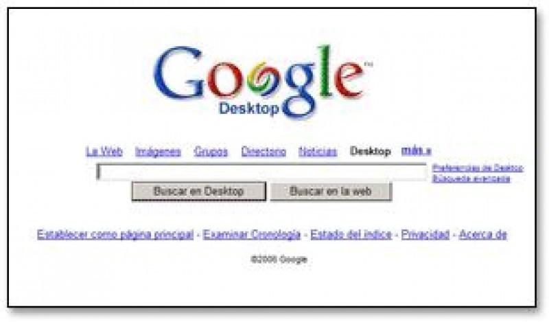 Pantallazo Google Desktop