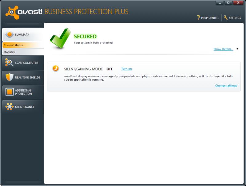 Pantallazo Avast Business Protection Plus