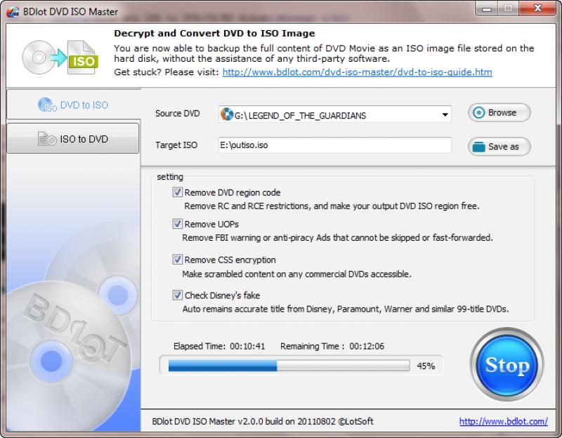 Pantallazo BDlot DVD ISO Maker
