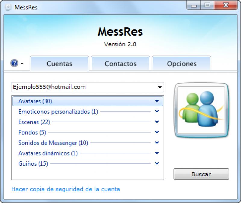 Pantallazo MessRes