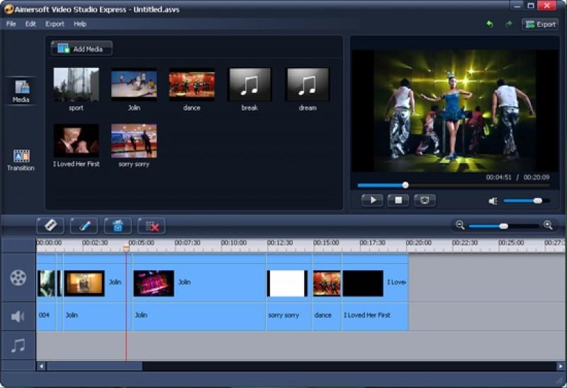 Pantallazo Aimersoft Video Studio Express