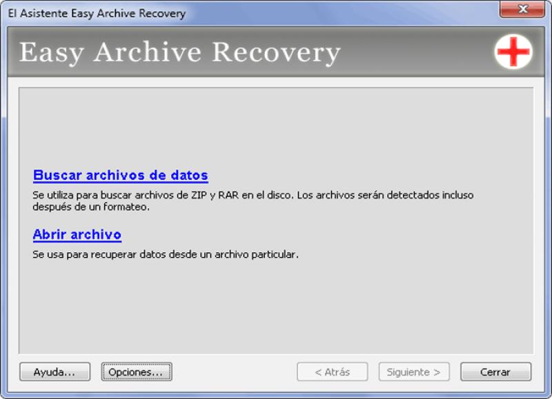 Pantallazo Easy Archive Recovery