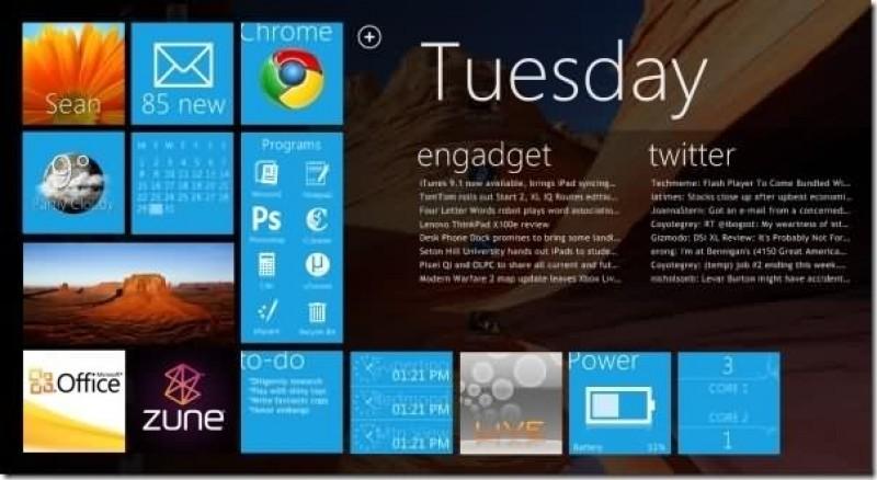 Pantallazo Windows 8 Developer Preview