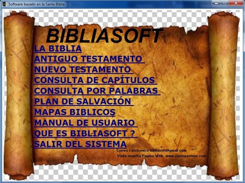 Pantallazo BibliaSoft