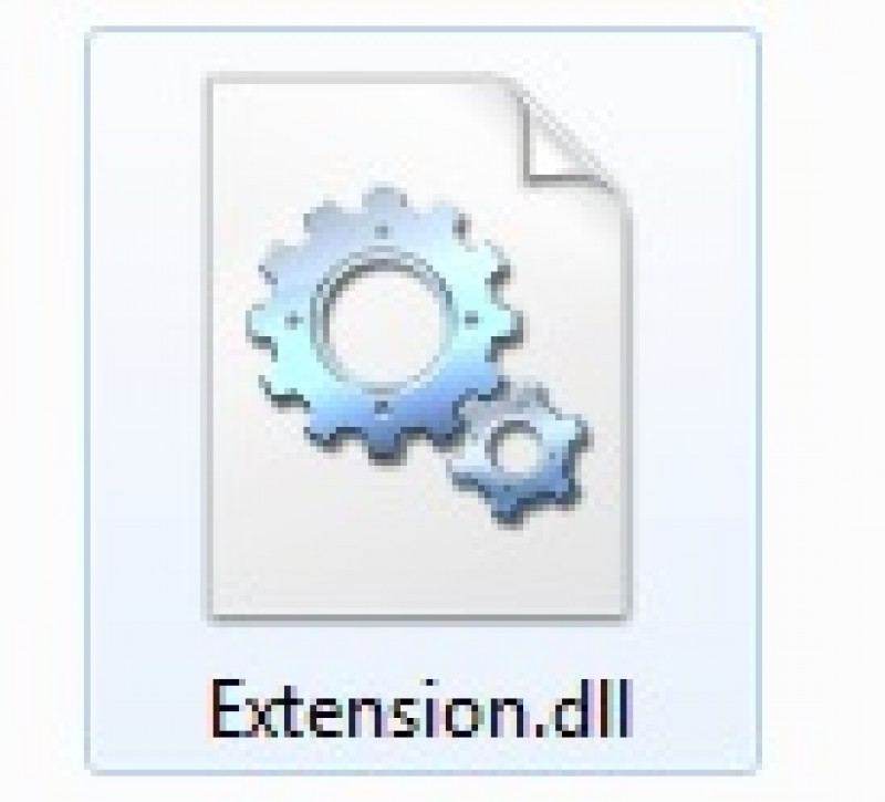 Pantallazo File Extension DLL