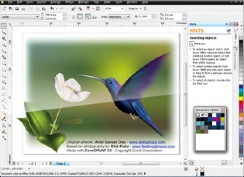 Pantallazo Corel Draw Graphics Suite