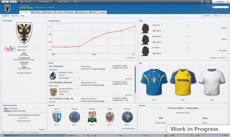 Pantallazo Football Manager 2012