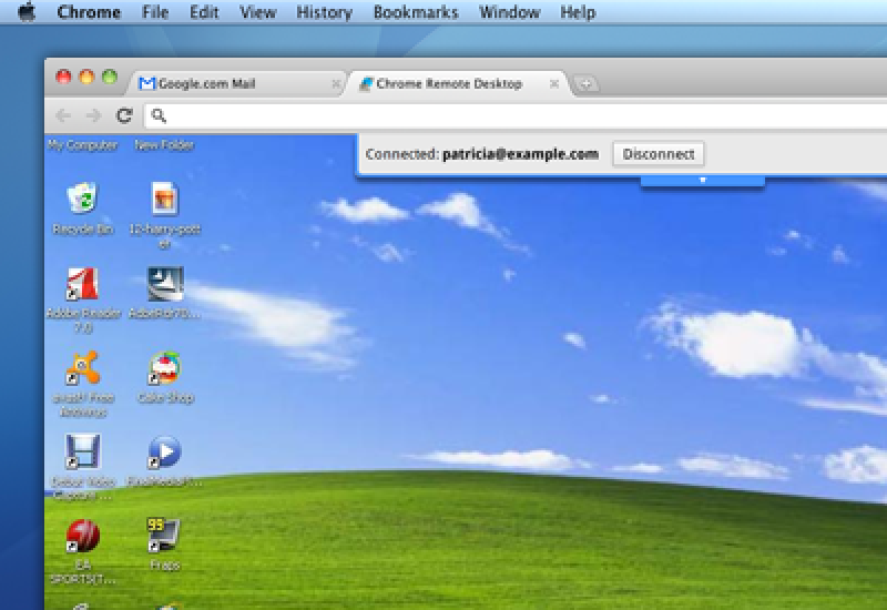 Pantallazo Chrome Remote Desktop