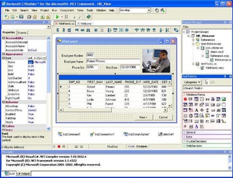 Pantallazo C++Builder