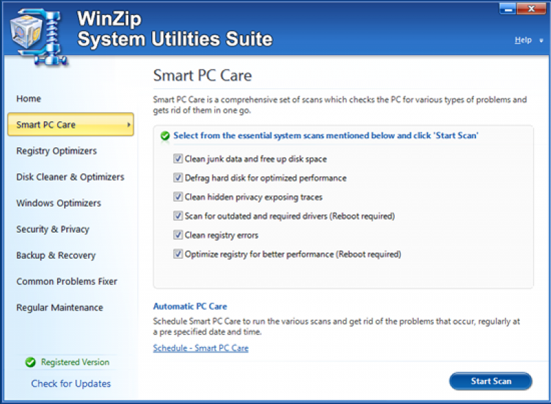 Pantallazo WinZip System Utilities Suite