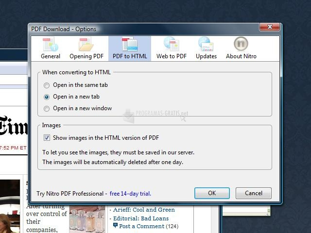 Captura PDF Download Firefox