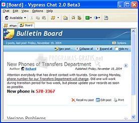 Pantallazo VyPress Chat