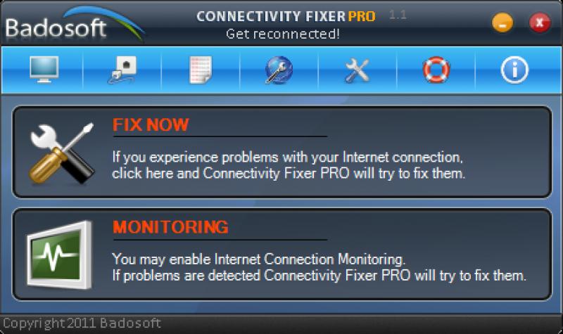 Pantallazo Conectivity Fixer