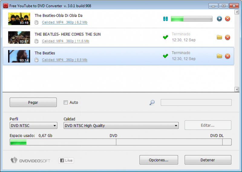 Pantallazo Free Youtube to DVD Converter