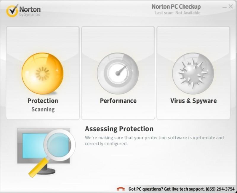 Pantallazo Free Norton PC Checkup
