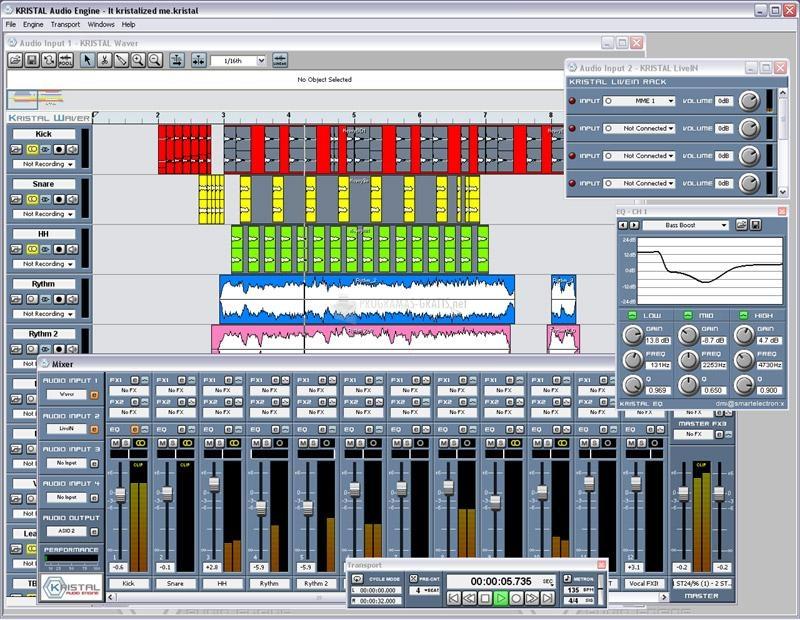 Pantallazo Kristal Audio Engine