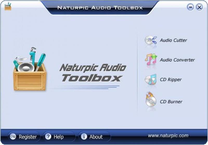 Pantallazo Naturpic Audio Toolbox