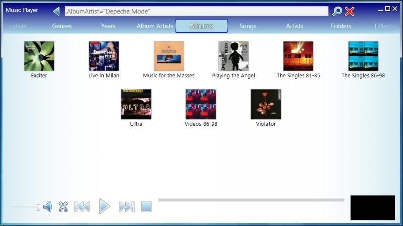 Pantallazo Music Player