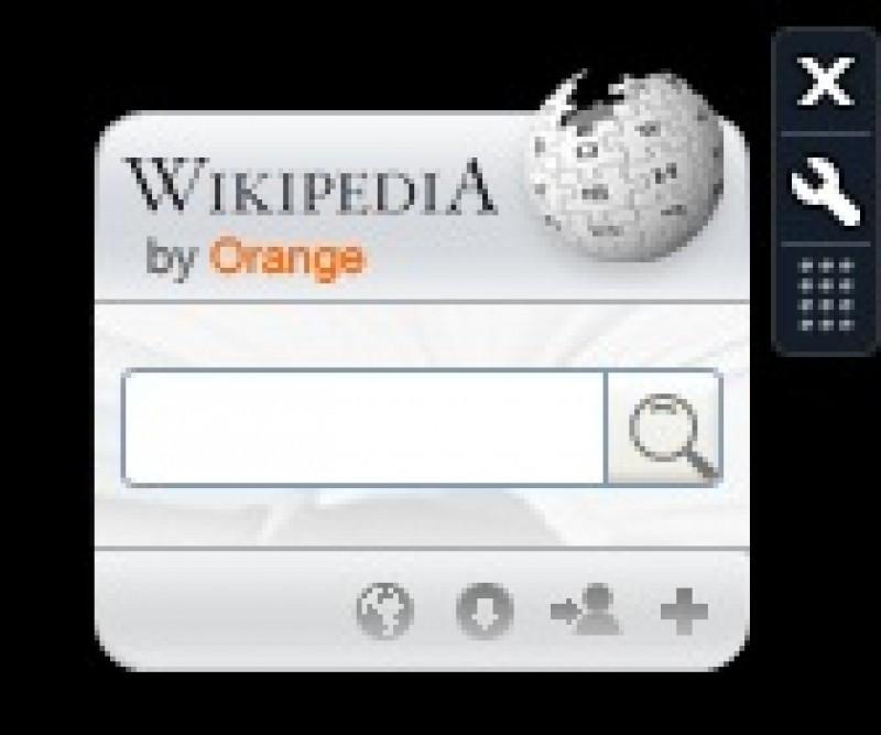 Pantallazo Wikipedia Gadget