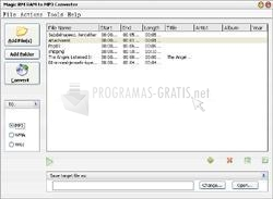 Pantallazo Magic RM RAM to MP3 WMV Converter