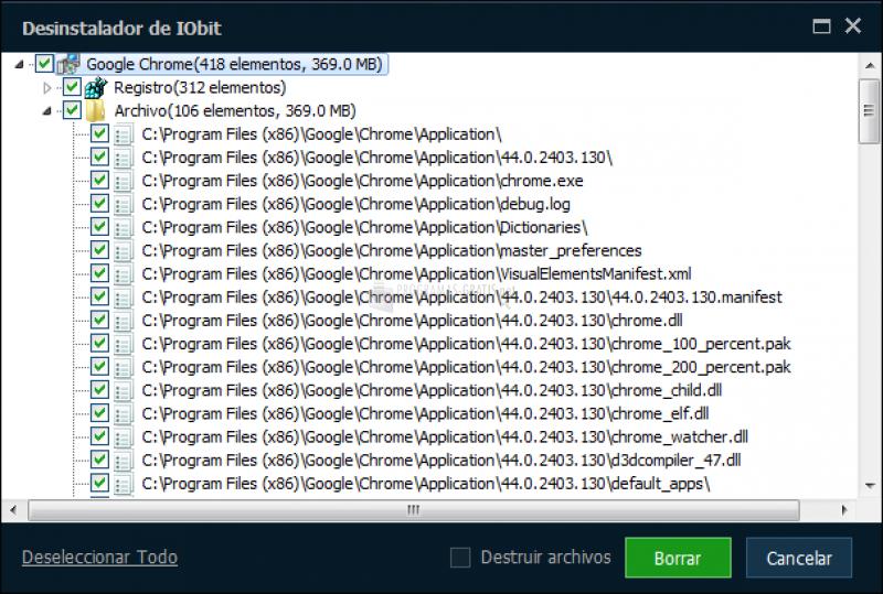 Screenshot IObit Uninstaller