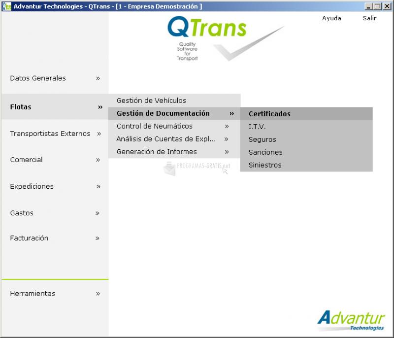 Pantallazo Qtrans Professional Freeware