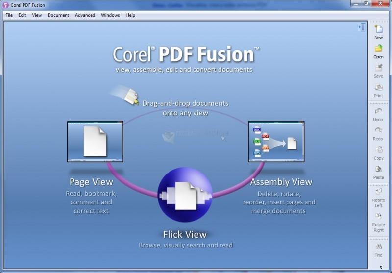 Pantallazo Corel PDF Fusion