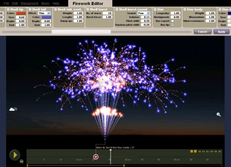 Pantallazo Finale Fireworks