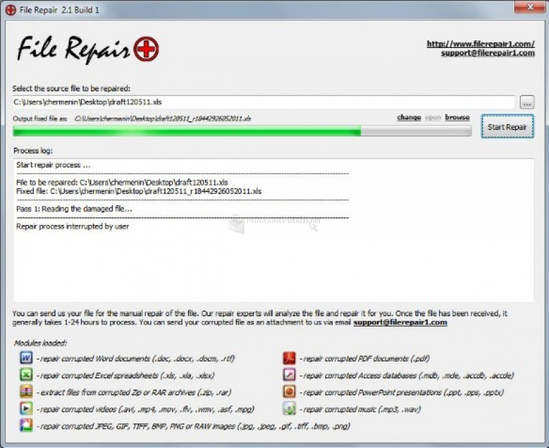 Pantallazo File Repair