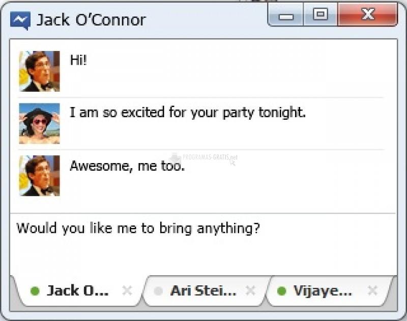 Pantallazo Facebook Messenger