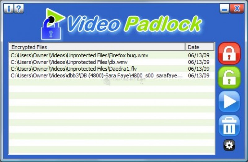 Pantallazo Video Padlock