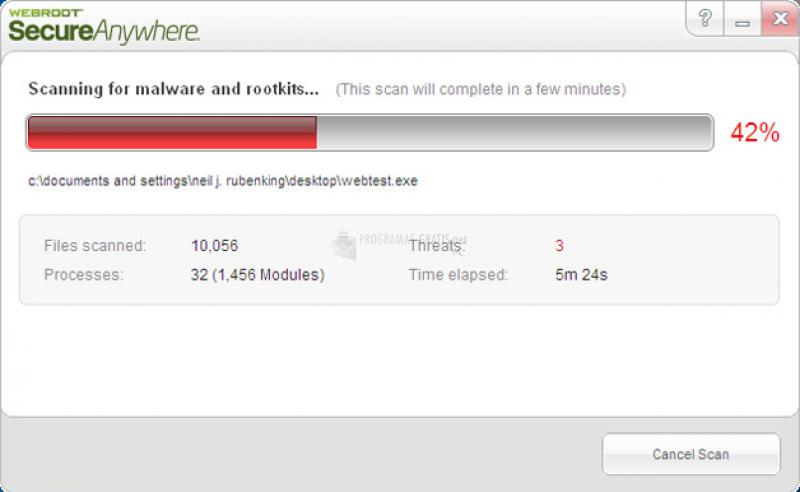 Pantallazo Webroot SecureAnywhere Antivirus
