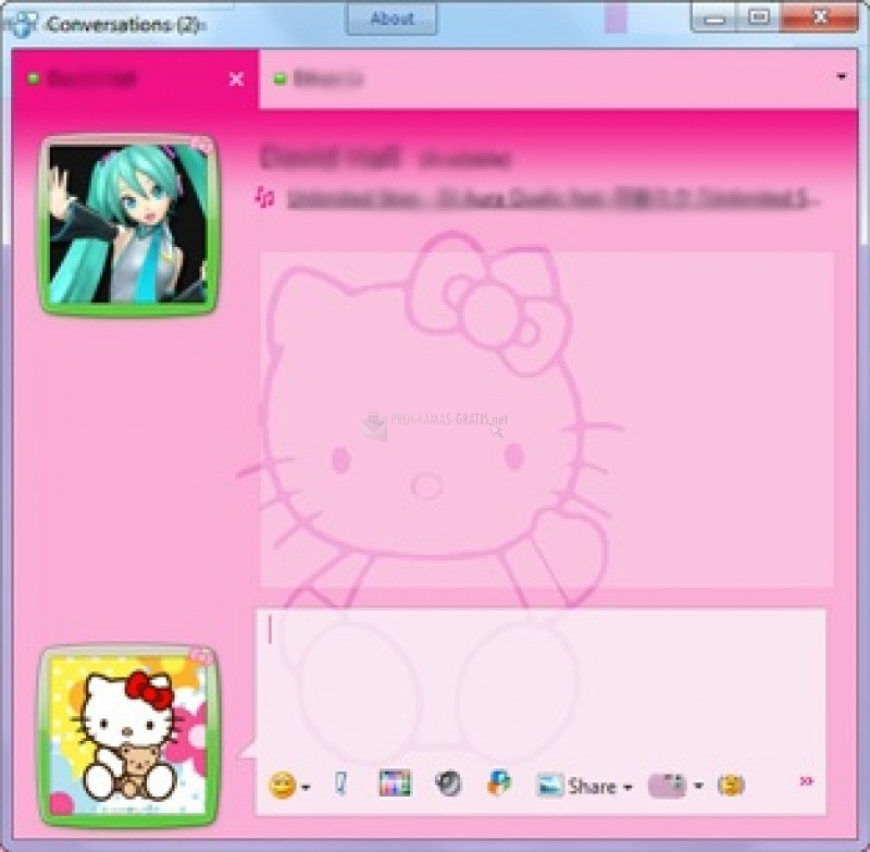 Pantallazo Hello Kitty Skin Msn