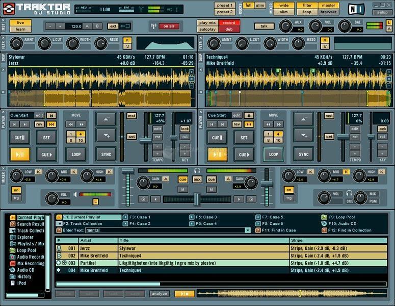 Im genes de traktor dj studio 3 4 1 for Mesa de mezclas virtual